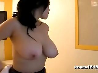 sexy Korean slut in a nice dress