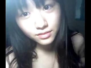 Korean school girl nude on webcam for boyfriend