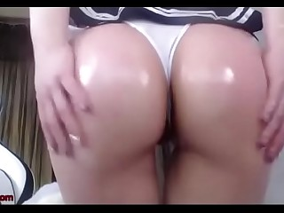 Busty Korean Girl Spanking Her Ass Compilation