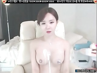 Korean the sexiest girl shows her big boobs round ass