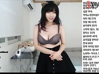 Korean BJ ! Beautiful Girl Very Cute ! Livestream show webcam ! 300919