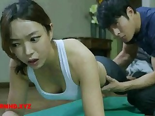 Korean wife fucks yoga tutor