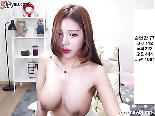 Korean BJ beautiful tit show cam !