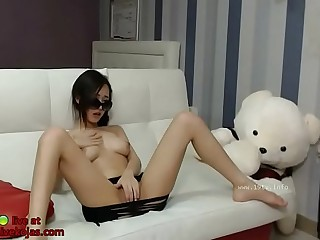 Big tits Korean shows her amazing body